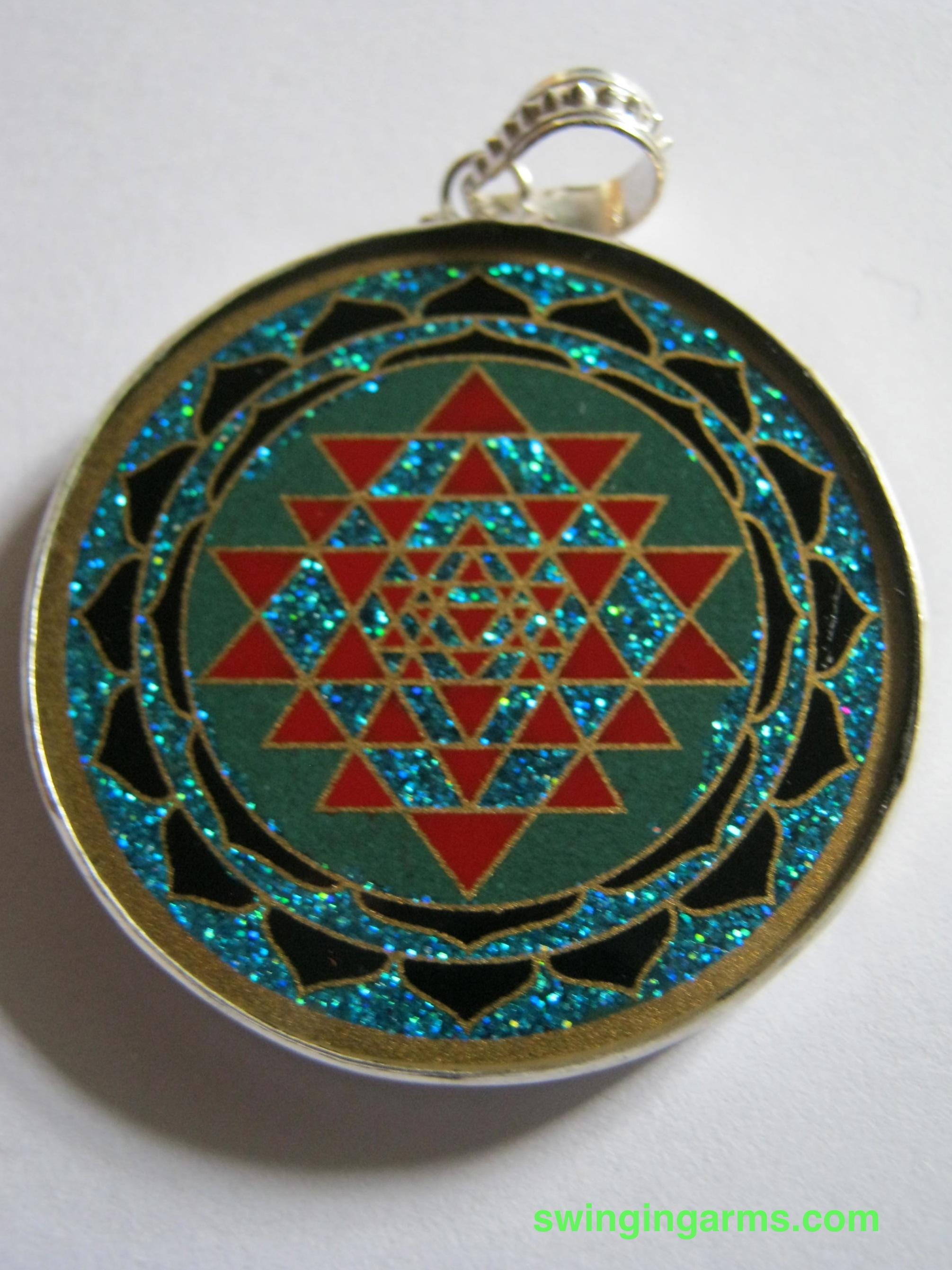 Shri yantra pendant swinging arms shri yantra pendants shri yantra pendant 2 mozeypictures Images