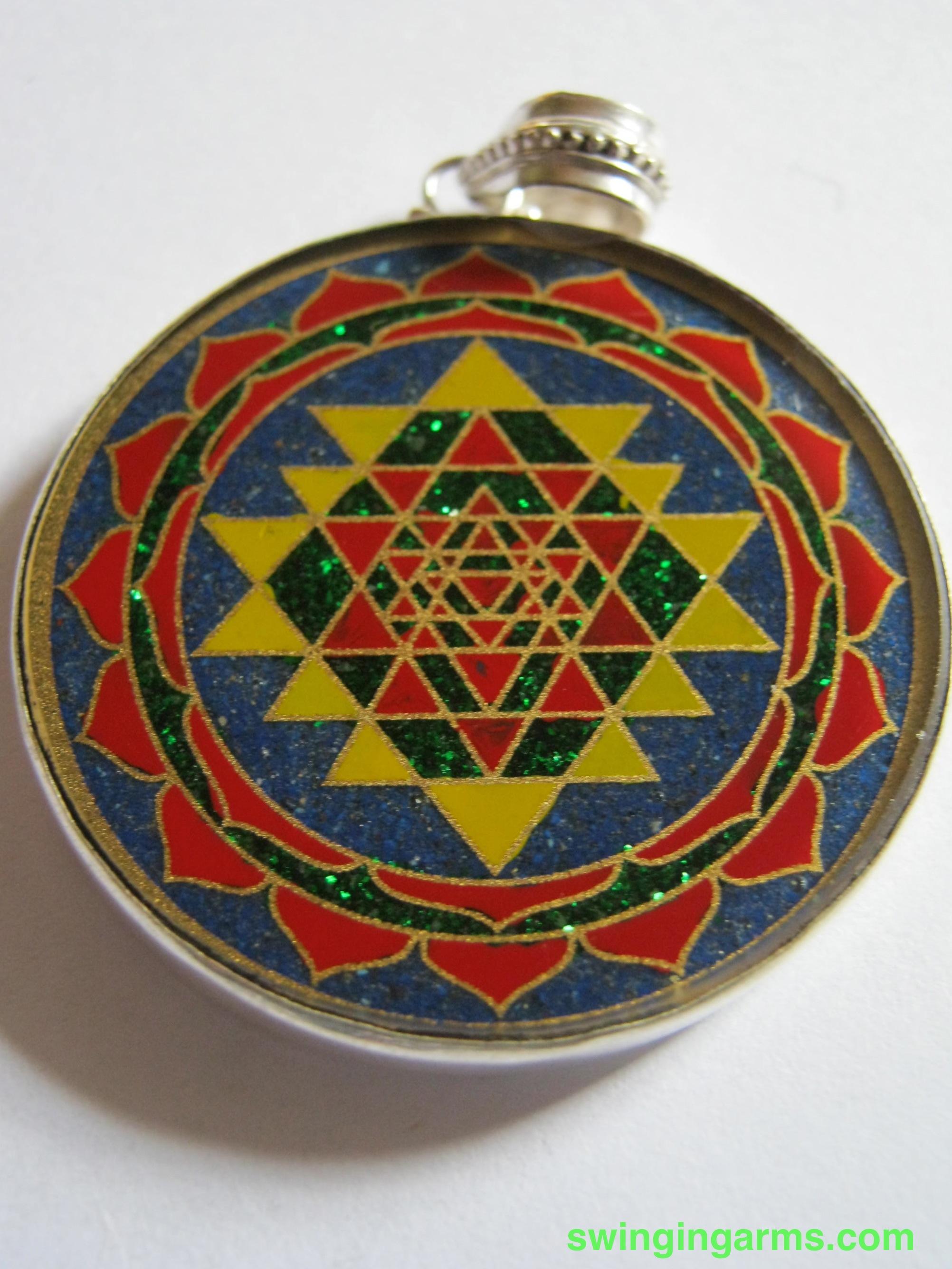 Shri yantra pendant swinging arms shri yantra pendant mozeypictures Choice Image